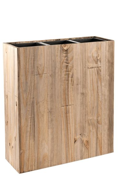 Roomdivider houten plantenbak