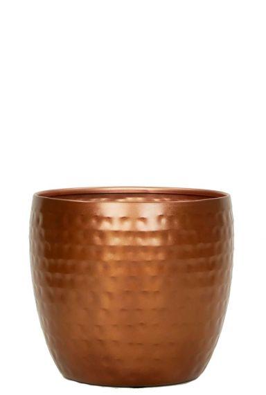 Trendy koper kleur pot