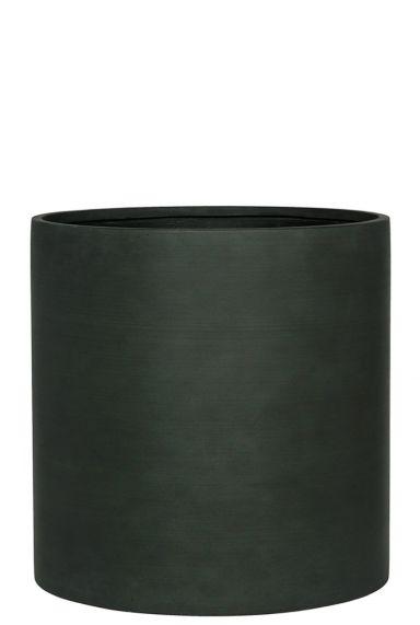 Trendy pot donker groen