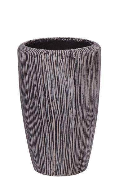 Twist plantenbak zwart