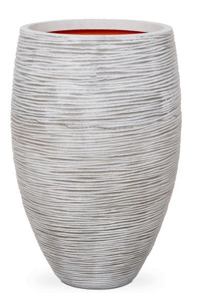 Vaasvormige grote witte capi pot
