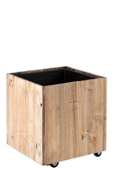 Vierkant kantoor plantenbak hout