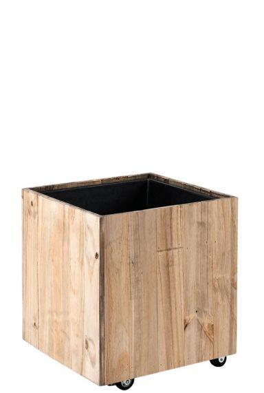 Vierkant kantoorbeplanting plantenbak hout