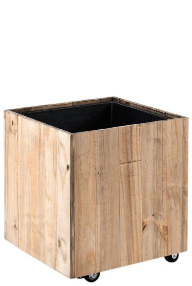 Vierkante kantoor plantenbak hout