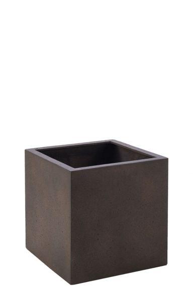 Vierkante plantenbak bruin
