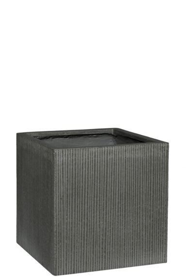 Vierkante plantenbak grijs