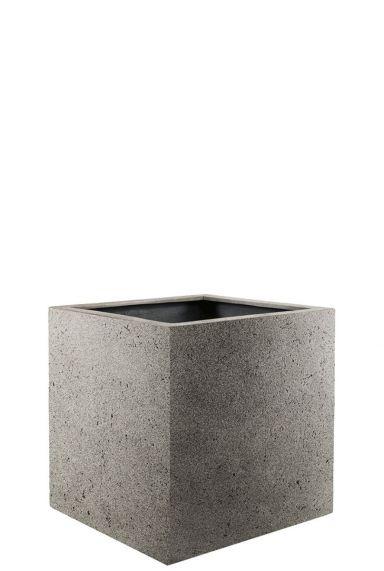 Vierkante plantenbak grijs 1