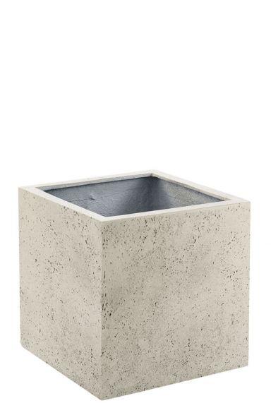 Vierkante plantenbak wit 1