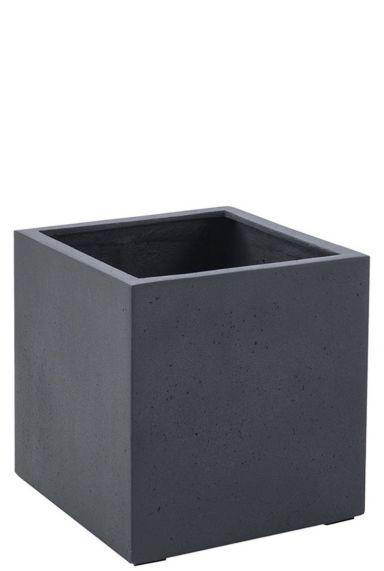 Vierkante plantenbakken antraciet beton