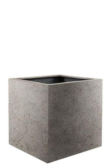 Vierkante plantenbakken grijs
