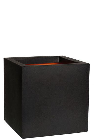 Vierkante zwarte capi pot