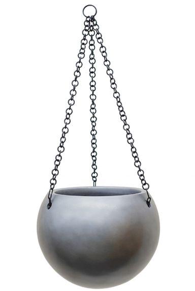 Waterdichte hangpot zilver