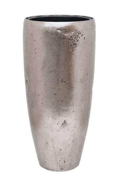 Waterdichte pot zilver hoog
