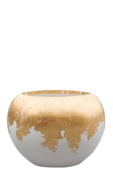 Wit gouden plantenpot