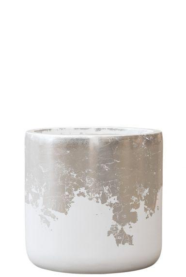Wit zilver plantenbak