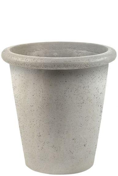Witte betonlook plantenbakken