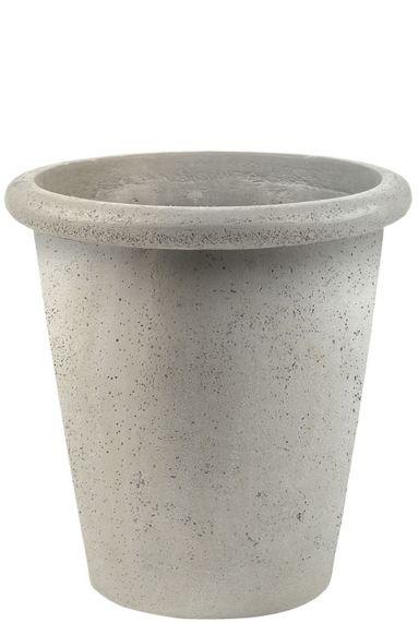 Witte betonlook plantenpot