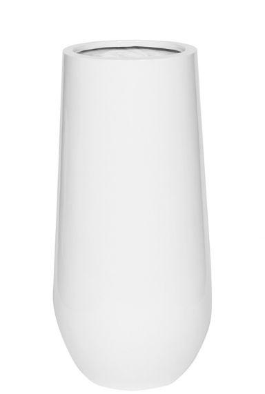 Witte glimmende vaas