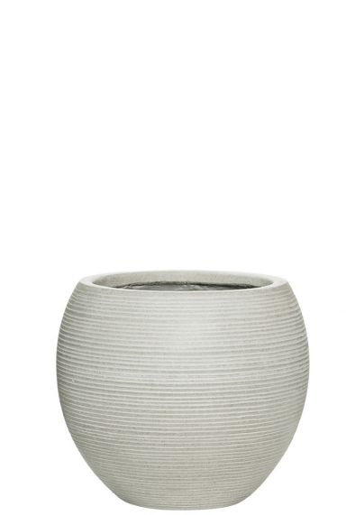Witte ronde pottery pot