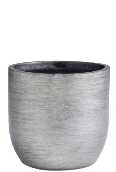 Zilver capi retro plantenpot