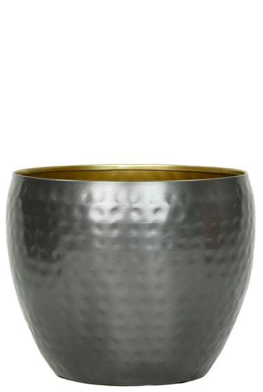 Zilver kleur pot