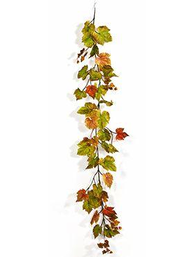 Grape leaf garland