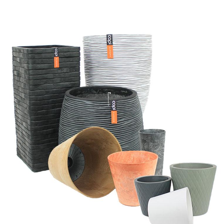 Verschillende groottes potten